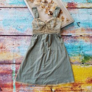 Anthro Left of Center Elding Lace Slip Dress 2